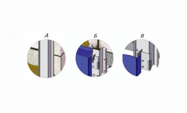 Межэтажное крепление для металлокассет