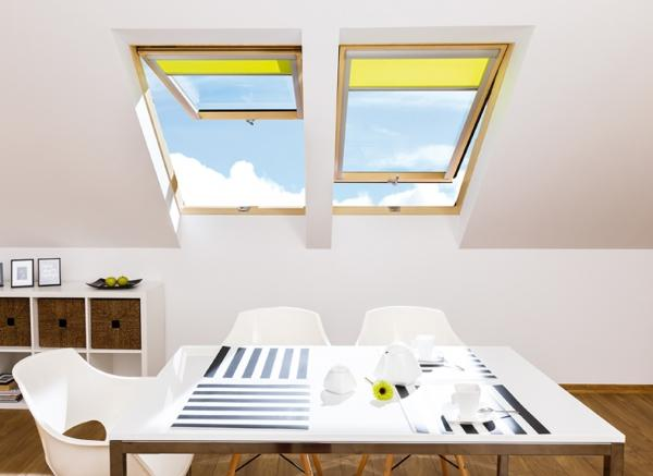 Двухкамерные мансардные окна